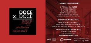DOCEXDOCE-CARTEL-CUADRADO-DOBLE-CARA.jpg Concurso Europeo para estudiantes de Arquitectura DOCEXDOCE