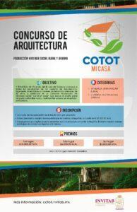 POSTER-COTOT.jpg Concurso de vivienda social en Tabasco: Cotot - Mi Casa.